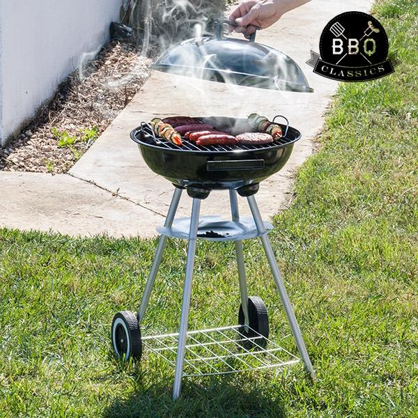 Bbq Met Deksel.Bbq Classics Houtskoolbarbecue Met Deksel En Wielen